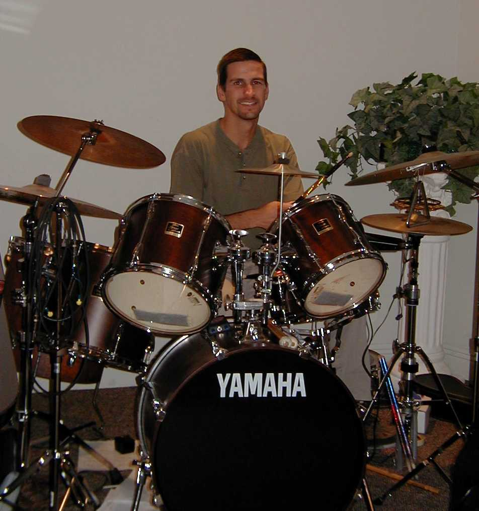 Doug playing his Yamaha Stage Custom